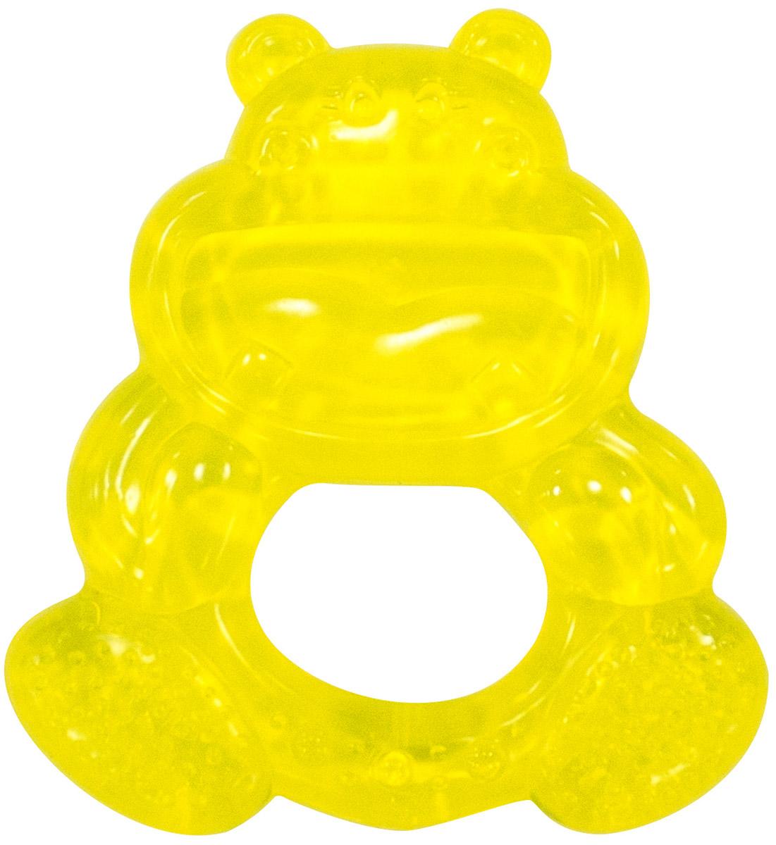 Canpol Babies Прорезыватель водный охлаждающий Бегемотик цвет желтый