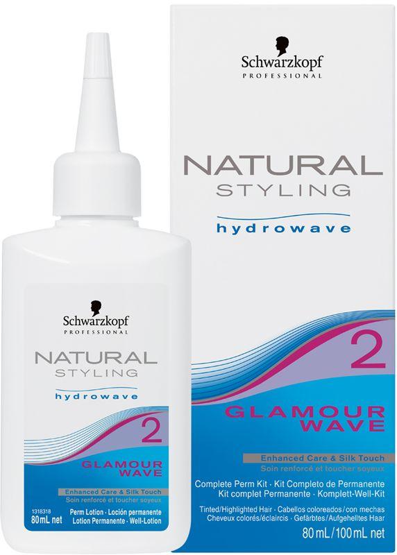 Natural Styling Glamour Комплект для химической завивки 2, 180 млMP59.4DНС Гламур комплект для химической завивки 2 для окрашенных; осветленных и пористых волос; состоит из лосьона и нейтрализатора.