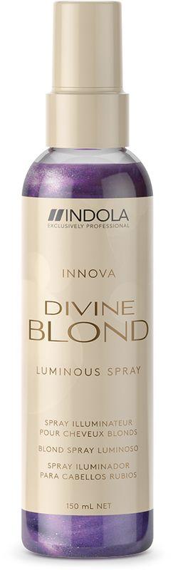 Indola Divine Blond Спрей-кондиционер для Светлых Волос, 150 млFS-00897Спрей-кондиционер обеспечивает силу, увлажнение и блеск. Благодаря омплексу Blonde&Glow нейтрлизует желтые пигменты. Содержит УФ-фильтры.