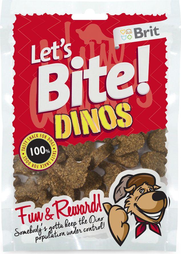 Лакомство для собак Brit Lets Bite! Dinos. Динозавры, 150 г513765Лакомство Brit Lets Bite Динозавры предназначено для собак.Два в одном: удовольствие и поощрения. Лакомства воплощают в реальность самые заветные мечты вашей собаки – покусать медведя, акулу, а может быть, и динозавра.Состав: рис, ягненок, жидкий крахмал, коллаген, рыбий жир лососевых рыб, натуральные ароматизаторы.Аналитический состав: сырой протеин 15%, сырой жир 7,5%, сырая зола 5%, сырая клетчатка 2%, влага 17%.