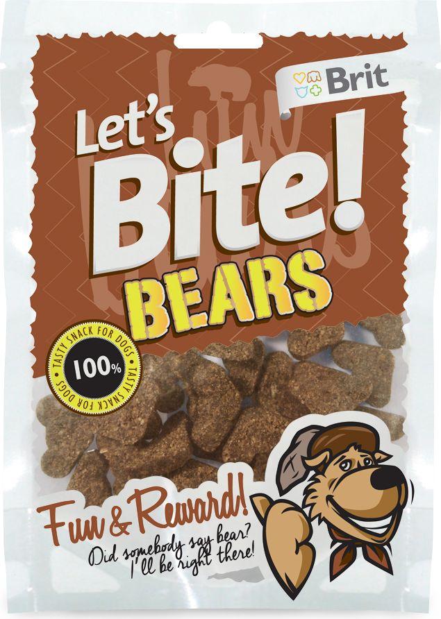 Лакомство для собак Brit Lets Bite! Bears / Мишки, 150 г101246Лакомство Brit Lets Bite Мишки для собак.Два в одном: удовольствие и поощрения. Воплощают в реальность самые заветные мечты вашей собаки – покусать медведя, акулу, а может быть, и динозавра.Состав: рис, дикий кабан, жидкий крахмал, коллаген, рыбий жир лососевых рыб, натуральные ароматизаторы.Аналитический состав: сырой протеин 15%, сырой жир 7,5%, сырая зола 5%, сырая клетчатка 2%, влага 17%.