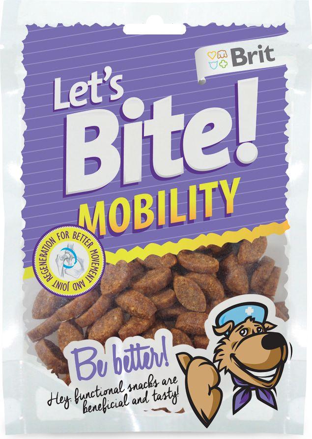Лакомство для собак Brit Lets Bite! Mobility. Мобильность, 150 г513789Лакомство Brit Lets Bite Мобильность предназначено для собак.Поддержка мобильности – функциональное лакомство для собак. Оно вкусное и полезное.Состав: рис, курица, жидкий крахмал, коллаген, рыбий жир лососевых рыб, натуральные ароматизаторы, глюкозамина сульфат (14 г/кг), хондроитина сульфат (7 г/кг), метилсульфанилметан (5 г/кг), ункария опушенная (1 г/кг), босвеллия (1 г/кг).Аналитический состав: сырой протеин 16%, сырой жир 7%, сырая зола 3,5%, сырая клетчатка 2%, влага 17%.Питательные добавки на 1 кг: витамин C (3a312) 500 мг/кг.