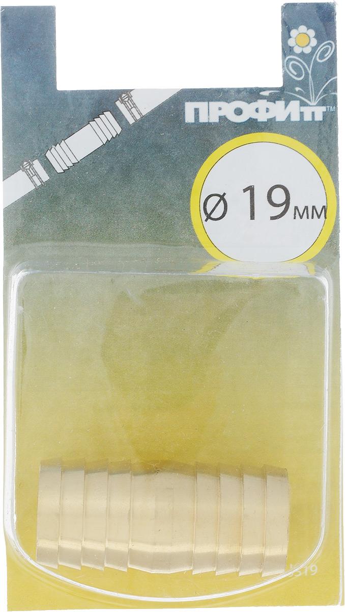 Штуцер ремонтный Профитт, диаметр 19 мм106-026Ремонтный штуцер-елочка Профитт предназначен для соединения двух шлангов диаметром 19 мм. Быстро устраняет повреждения в резиновых, нейлоновых, полиуретановых или полихлорвиниловых шлангах. Изготовлен из высокопрочной и долговечной латуни. Обладает высокой износостойкостью, устойчивостью к химическим веществам, универсален. Простой монтаж.