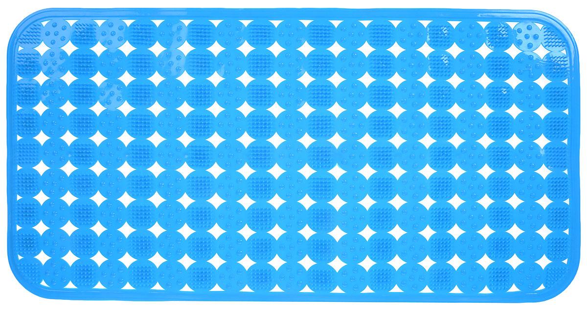 Коврик против скольжения Vortex Массажный для ванны, цвет: голубой, 36 х 70 см1004900000360Коврик Vortex Массажный, изготовленный из ПВХ, предназначен для использования в ванной комнате и душевой кабине против скольжения. Коврик крепится на дно ванны с помощью небольших присосок. Благодаря рельефной поверхности создается эффект массажа, а также предотвращается возможность скольжения и падения в ванне.