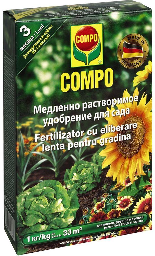 Удобрение растворимое Compo Sana, для сада, 1кг1275602066