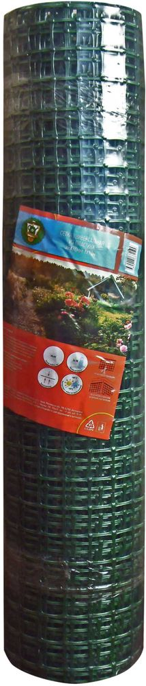 Сетка садовая Garden Show, 1 х 10 м531-105Сетки для декоративного ограждения идеально подходят для поддержки и декорирования клумб с кустовыми розами, пионами и другими растениями.