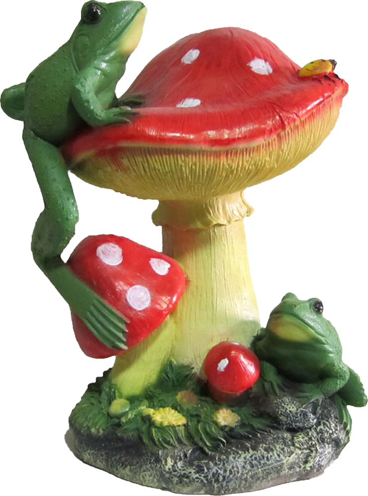 Фигурка Гриб с лягушкой, высота 27 смФП007