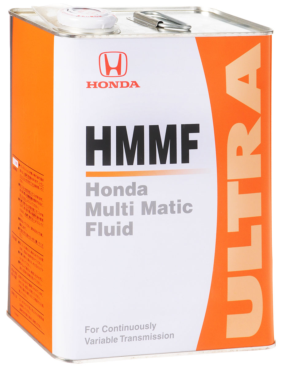 Масло трансмиссионное Honda HMMF, для вариаторов, 4 л10503Трансмиссионное масло Honda HMMF обеспечивает работу системы CVT (НММ - одна из ее разновидностей), основанной на методе стартового сцепления в автомобилях Honda. Поскольку оно является специальной жидкостью, предназначенной для трансмиссионной системы НMМ, отвечает особенностям этой трансмиссионной системы, а также является усовершенствованным в плане долговечности.Данная трансмиссионная жидкость не может быть использована в автомобилях с АКП, а также с системами CVT оборудованными гидротрансформатором.Товар сертифицирован.