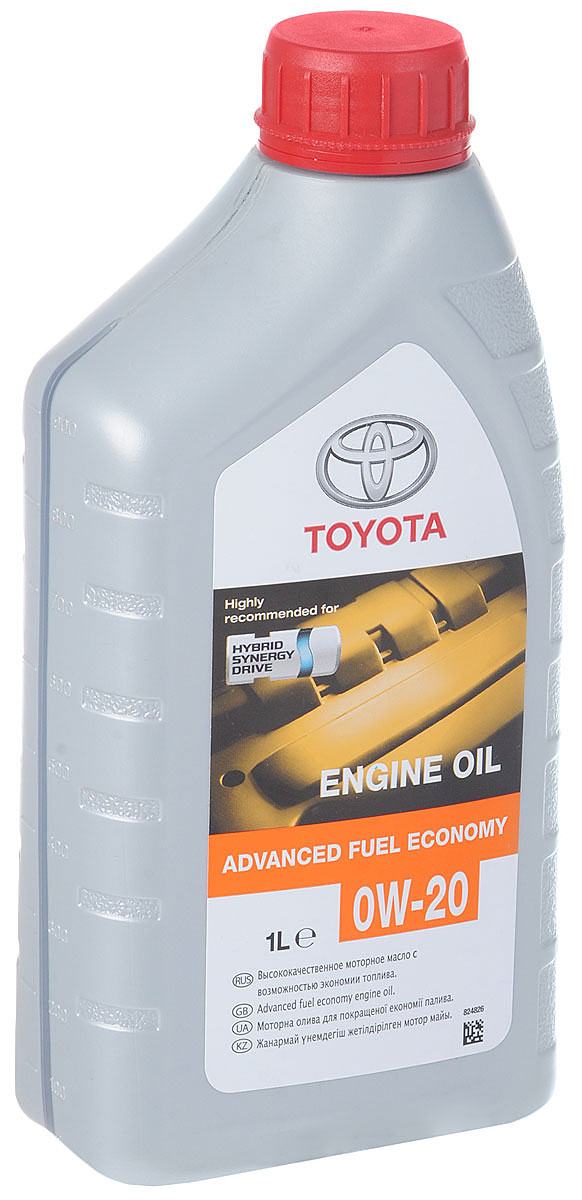 Масло моторное Toyota Advanced Fuel Economy, синтетическое, класс вязкости 0W-20, 1 л08880-80835Моторное масло Toyota Advanced Fuel Economy - полностью синтетическое моторное масло для двигателей автомобилей Toyota. Оно обеспечивает значительную экономию топлива благодаря добавлению полиальфаолефинов и специального комплекса присадок. Масло содержит в своем составе высококачественные присадки, гарантирующие превосходные эксплуатационные характеристики.Тип базового масла: синтетическое.Класс вязкости SAЕ: 0W-20.Тип двигателя: бензиновый.Стандарт API: SN.Стандарт ILSAC: GF-5.Объем: 1л.