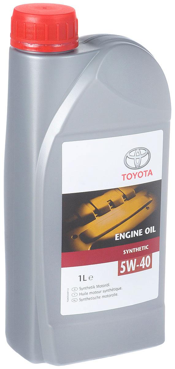 Масло моторное Toyota, синтетическое, класс вязкости 5W-40, 1 л172658Оригинальное моторное масло Toyota отвечает самым жестким требованиям, предъявляемым к маслам последнего поколения. Стабильность вязкостных и смазывающих свойств, постоянство эксплуатационных характеристик в различных условиях работы, отличная текучесть при низких температурах - вот отличительные черты оригинального моторного масла Toyota.Класс по ACEA: A3, B3, B4.Класс по API: SL / CF. Товар сертифицирован.