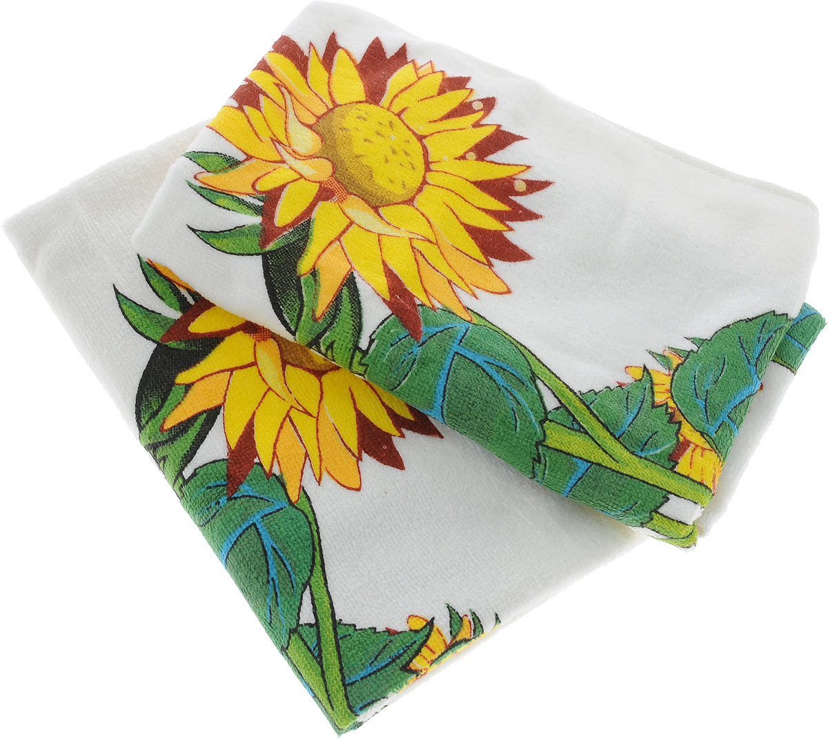 "Набор кухонных полотенец Bonita ""Цветы. Подсолнух. 40 х 60 см, 2 шт"