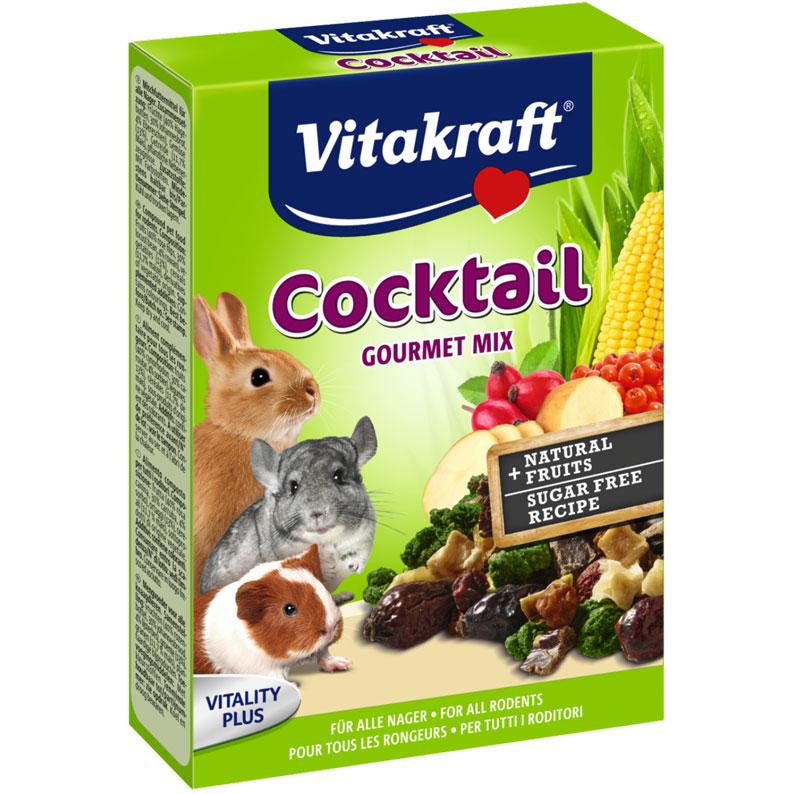 Лакомство для грызунов Vitakraft Cocktail Gourmet Mix, 50 г0120710Лакомство Vitakraft Cocktail Gourmet Mix из высушенных ягод и овощей предназначено для всех видов грызунов. Коктейль с шиповником, рябиной, овощами. Вкусная и полезная витаминная смесь. Состав: плоды шиповника 40%, плоды рожкового дерева 30%, рябина 4%, овощи 13%, злаки (11,7% кукуруза), продукты растительного происхождения. Товар сертифицирован.