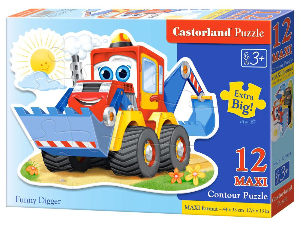 Castorland Пазл для малышей Забавный экскаватор castorland пазл забавный экскаватор 12 деталей maxi castorland