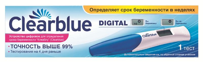 Clearblue Тест для определения беременности цифровой с индикатором срока беременности0003929Тест на беременность Clearblue PLUS выдает четкие комбинации линий, позволяющие безошибочно прочитать его результат.