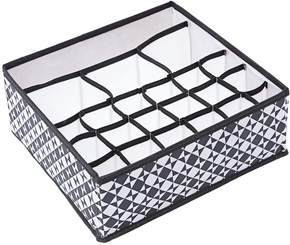 Органайзер Homsu Maestro, на 22 ячейки ,30 x 30 x 11 смRG-D31SСупер универсальный органайзер с секциями разного размера наведет порядок в любом ящике комода или на полке. Благодаря размерам ячеек, вы легко сможете хранить в нем вещи такие, как футболки, нижнее белье, носки, шапки и многое другое. Имеет жесткие борта, что является гарантией сохранности вещей. Подходит в шкафы Били от Икея.