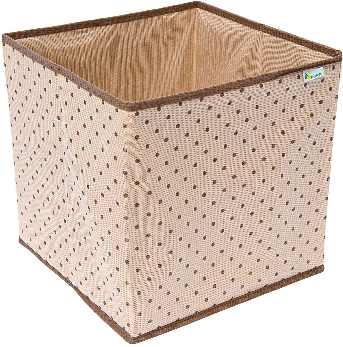 Коробка-куб для хранения вещей Homsu, 30 x 30 x 30 смRG-D31SКомпактная, но в то же время вместительная коробка-куб прекрасно подойдет для хранения одежды, полотенец и других вещей. Выполнена в универсальном дизайне, благодаря чему гармонично впишется в любой интерьер.