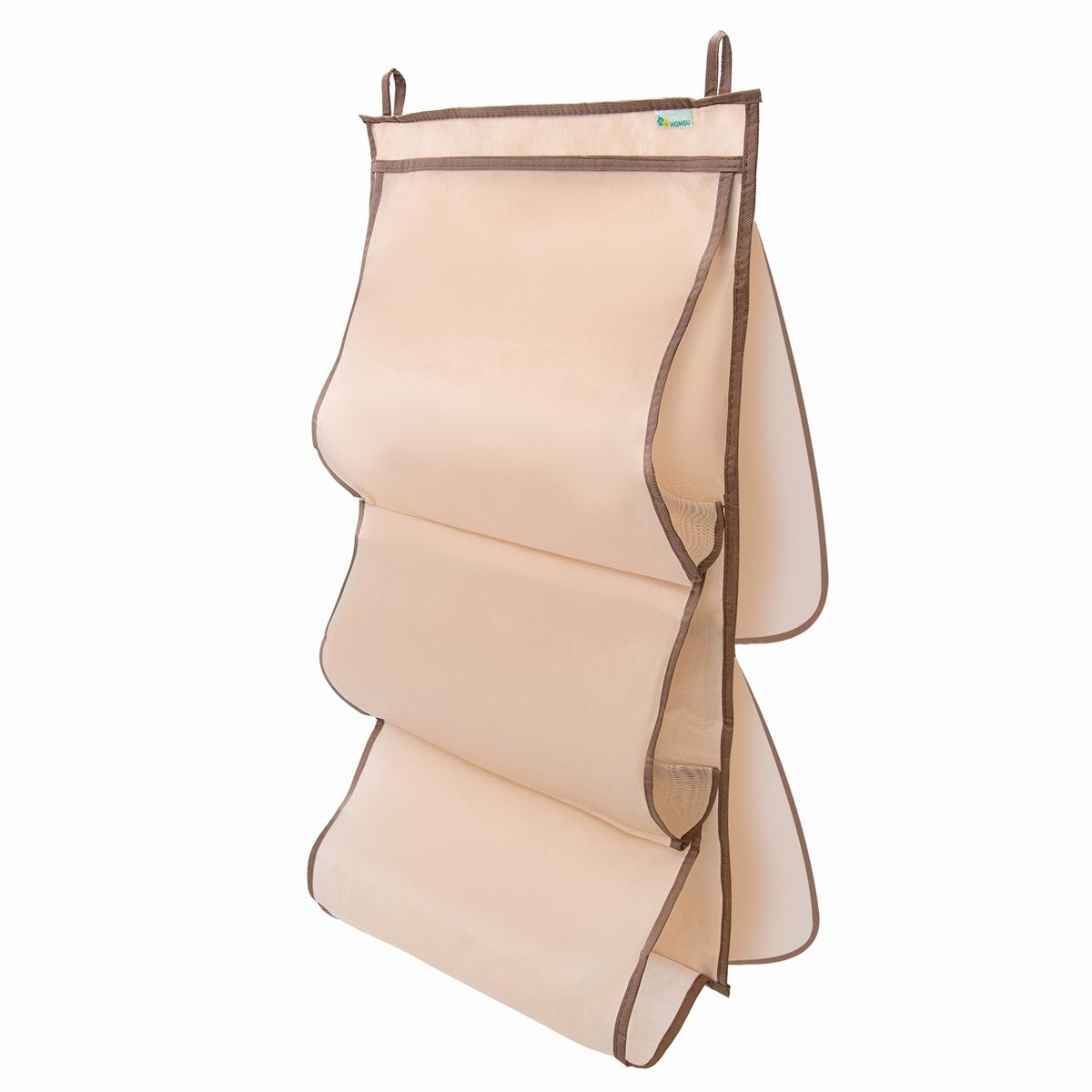 Органайзер для сумок в шкаф Homsu, 40 x 70 см98299571Органайзер для хранения сумок имеет 5 отделений под сумки разного размера. Защищает сумки от пыли и повреждений, органайзер можно установить на вешалку и повесить прямо в шкаф.