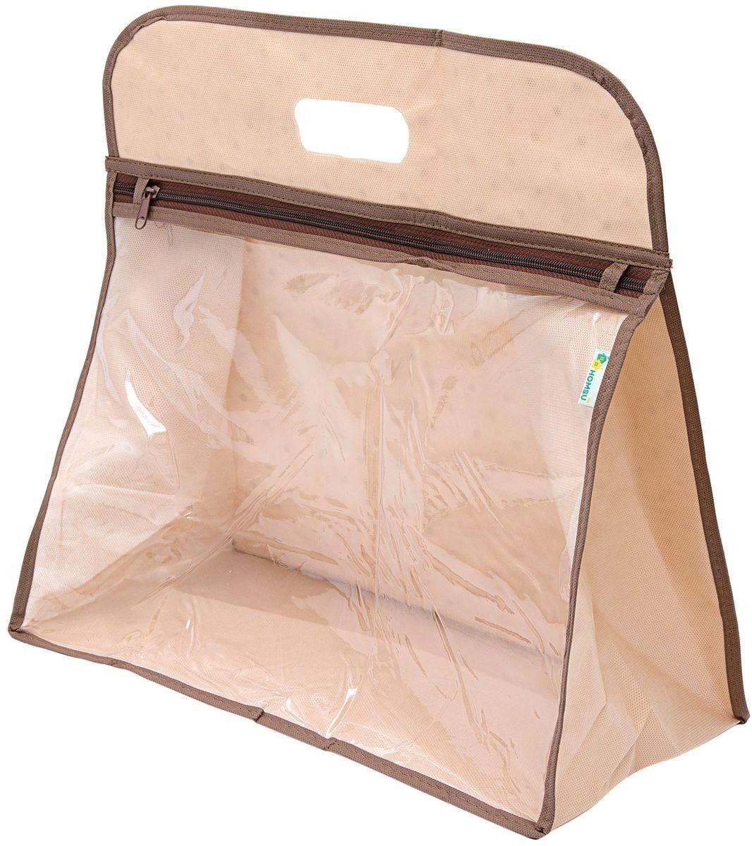 Чехол для сумки Homsu, 40 x 40 x 20 смHOM-806Чехол для сумки застегивается на молнию, имеет прозрачное окно, благодаря которому, можно видеть содержимое. Такой чехол защитит сумку от пыли, влаги и повреждений и поможет продлить срок ее службы.