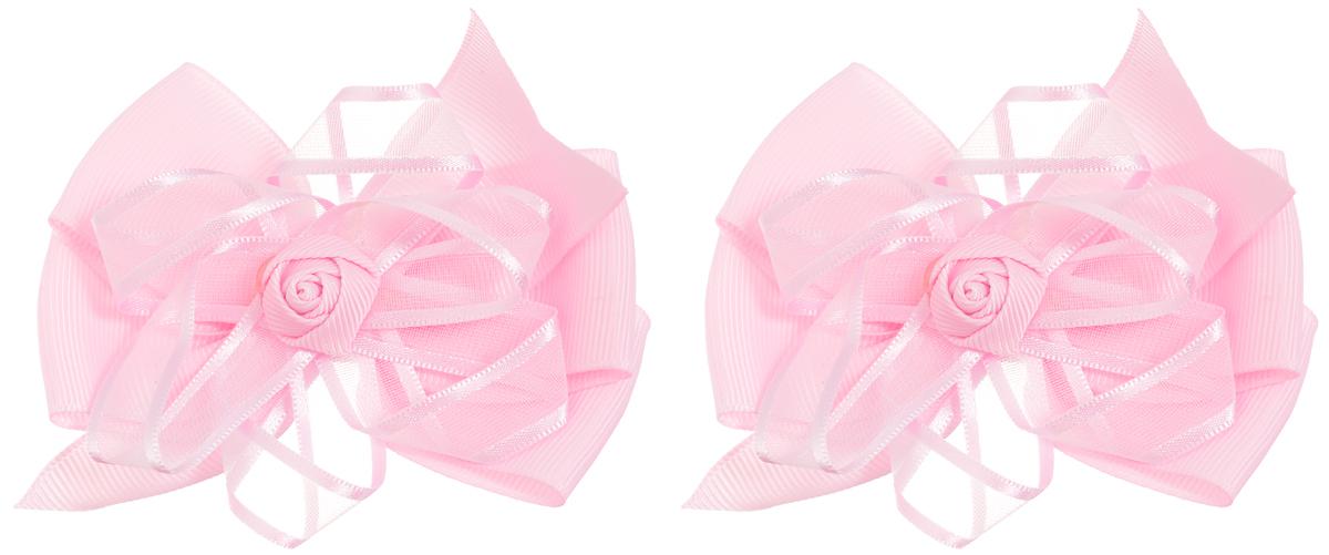 Babys Joy Резинка для волос цвет розовый с розочкой 2 шт MN 141/2MP59.4DРезинка для волос Babys Joy Бант выполнена в виде бантика из нескольких сплетенных вместе ленточек. Бантик декорирован текстильной розочкой в центре. Резинка позволит убрать непослушные волосы с лица и придаст образу немного романтичности и очарования.Резинка для волос Babys Joy подчеркнет уникальность вашей маленькой модницы и станет прекрасным дополнением к ее неповторимому стилю.