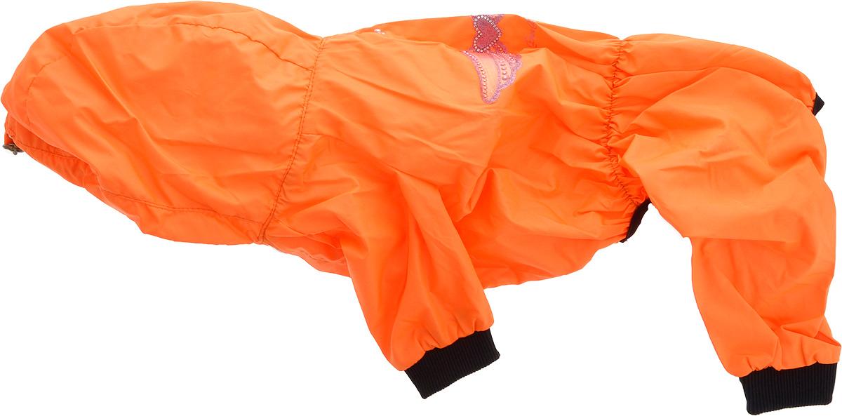 Дождевик прогулочный для собак GLG  Крылья , цвет: оранжевый. Размер L