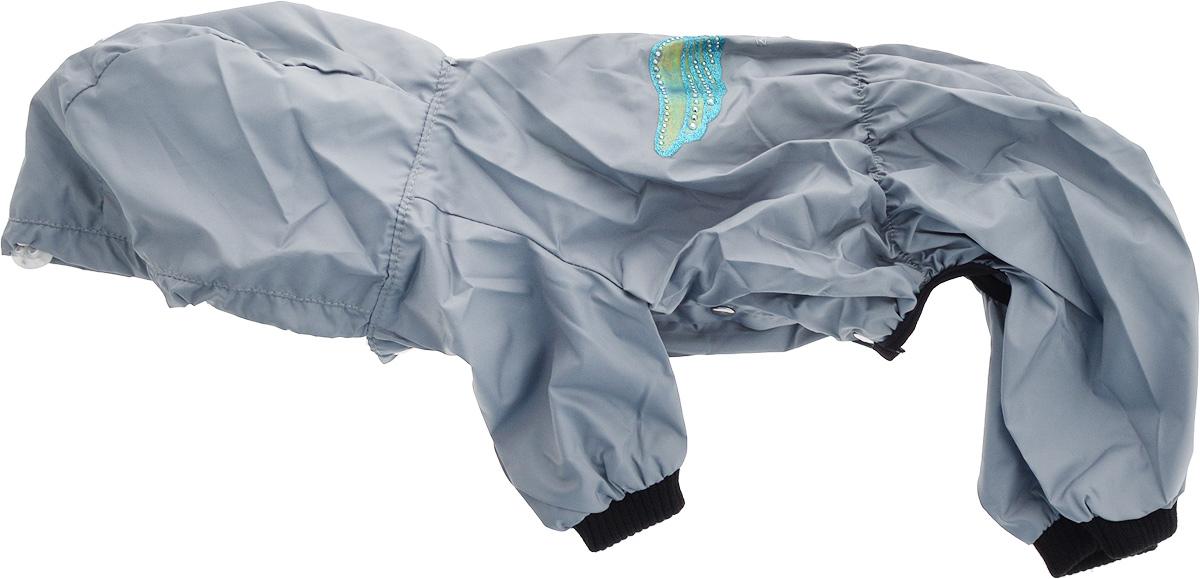 Дождевик прогулочный для собак GLG Крылья, цвет: серый. Размер XXL0120710Прогулочный дождевик для собак GLG Крылья выполнен из высококачественного текстиля разной текстуры. Рукава не ограничивают свободу движений, и собачка будет чувствовать себя в ней комфортно. Изделие застегивается с помощью кнопок.Изделие оформлено декоративной нашивкой.Модная и невероятно удобный непромокаемый дождевик защитит вашего питомца от дождя и насекомых на улице, согреет дома или на даче.