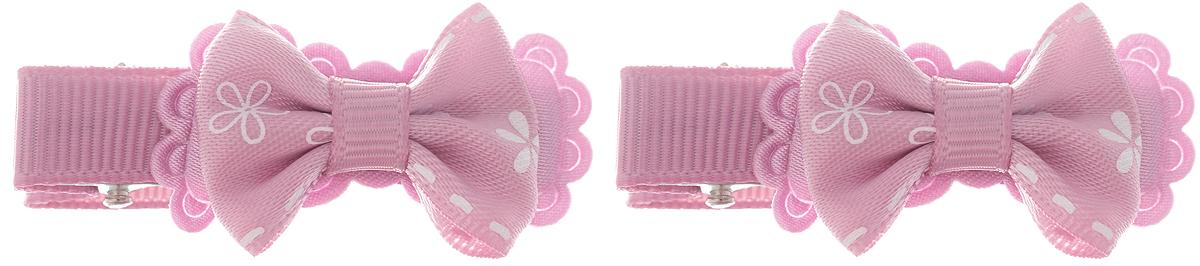 Babys Joy Зажим для волос цвет розовый 2 шт AL 535Серьги с подвескамиЗажим для волос Babys Joy изготовлен из металла и украшен текстильным бантиком.Зажим для волос надежно зафиксирует непослушные локоны и подчеркнет красоту прически вашей юной модницы.В упаковке 2 зажима.