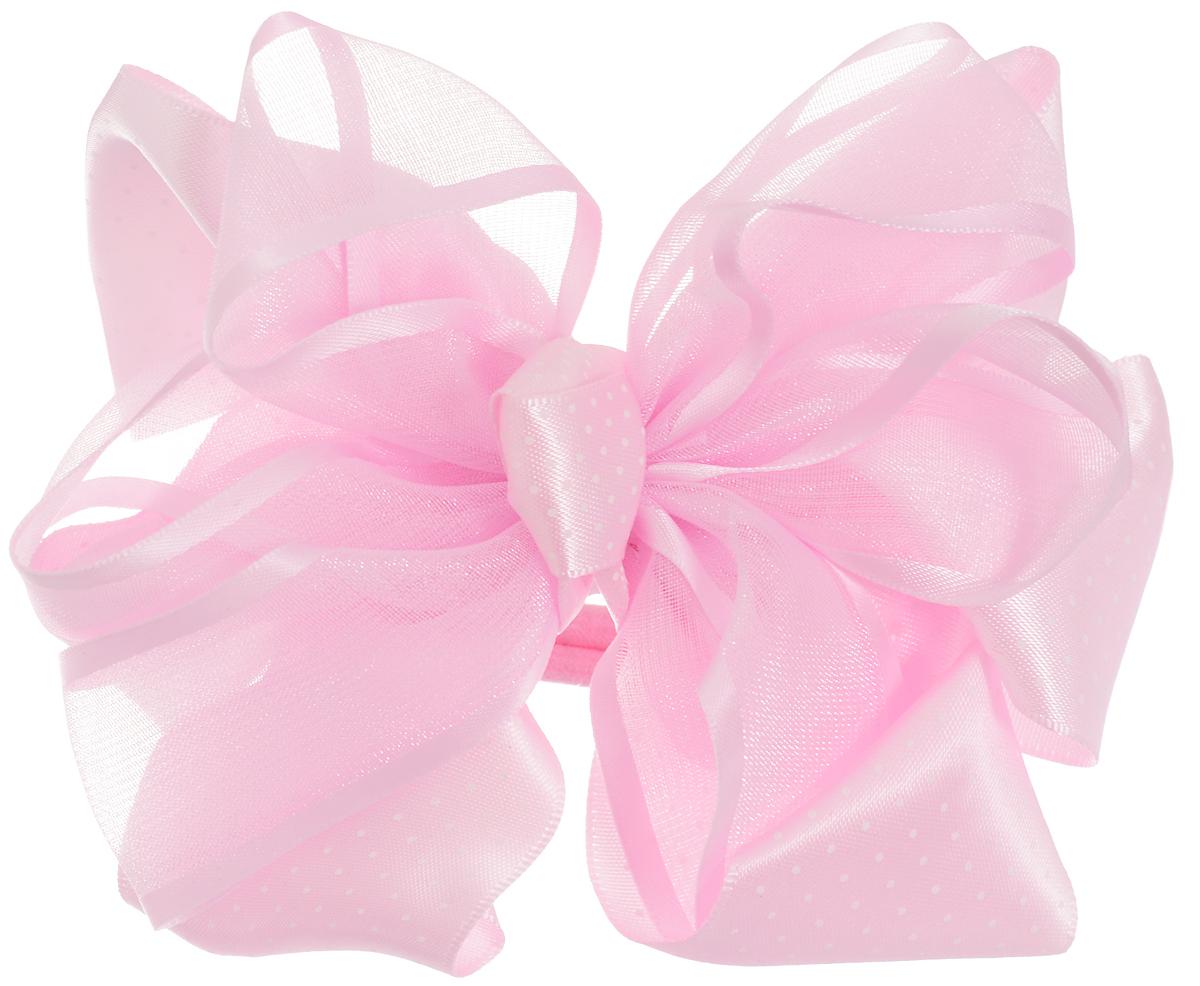 Babys Joy Бант для волос цвет розовый К 10FS-00897Бант для волос Babys Joy выполнен из декоративных лент разной ширины и материала (атлас и органза). Бант на резинке позволит не только убрать непослушные волосы с лица, но и придать образу романтичности и очарования. Такой аксессуар для волос подчеркнет уникальность вашей маленькой модницы и станет прекрасным дополнением к ее неповторимому стилю.
