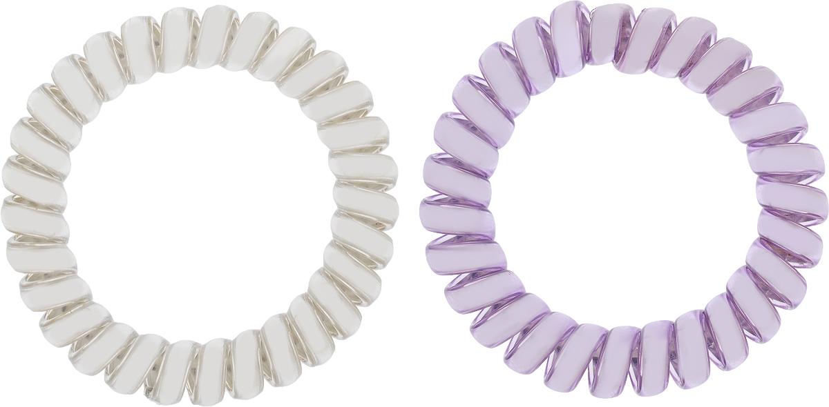 Babys Joy Резинка для волос цвет фиолетовый серебрянный 2 шт VT 436Серьги с подвескамиРезинка для волос Babys Joy выполнена в виде эластичной спирали из пластика металлического цвета. Резинка крепко и надежно фиксирует волосы, не оставляет следов после снятия. Хорошо скользит по волосам, не вызывая ломкости, разрывов и сечения. Такая резинка прекрасно растягивается, при этом не рвется. За счет своей спиральной формы мягко распределяет давление по волосам. Резинка для волос Babys Joy подчеркнет уникальность вашей маленькой модницы и станет прекрасным дополнением к ее неповторимому стилю.