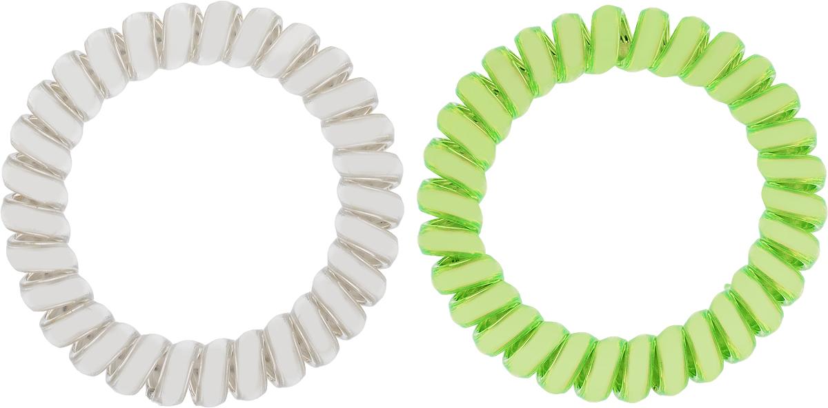Babys Joy Резинка для волос цвет зеленый серебрянный 2 шт VT 436Серьги с подвескамиРезинка для волос Babys Joy выполнена в виде эластичной спирали из пластика металлического цвета. Резинка крепко и надежно фиксирует волосы, не оставляет следов после снятия. Хорошо скользит по волосам, не вызывая ломкости, разрывов и сечения. Такая резинка прекрасно растягивается, при этом не рвется. За счет своей спиральной формы мягко распределяет давление по волосам. Резинка для волос Babys Joy подчеркнет уникальность вашей маленькой модницы и станет прекрасным дополнением к ее неповторимому стилю.