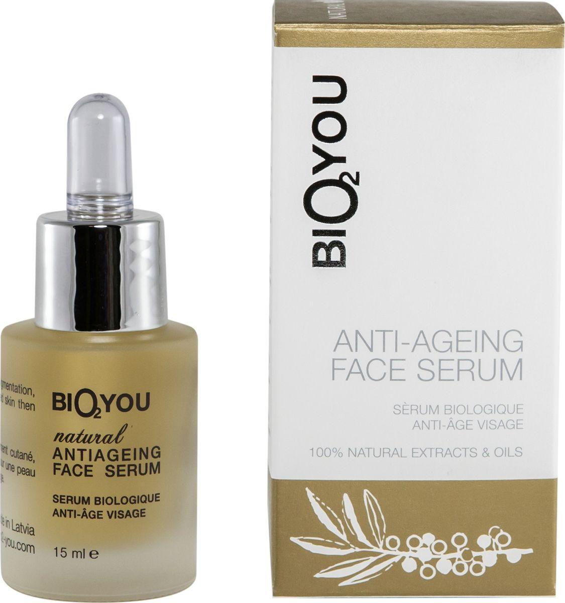 BIO2You Anti-age Skin Care Натуральная омолаживающая сыворотка, 15 мл960138Ценная натуральная формула эффективно борется со старением и морщинками до того, как они станут заметными. улучшает и повышает способность кожи длительное время удерживать влагу. Очень хорошо смягчает кожу и стимулирует образование коллагена. Способна подавлять пигментацию кожи и разрушать меланин, и может использоваться для отбеливания темных участков кожи. Улучшает восстановление тканей, усиливает микроциркуляцию и восстановление кожи.