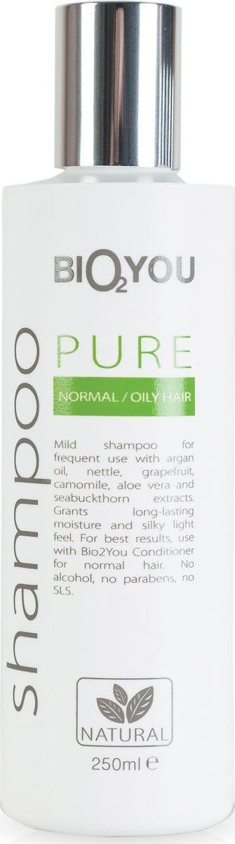 BIO2You Шампунь Pure для нормальных волос, 250 млAC-1121RDНежный натуральный шампунь для частого использования с облепихой. Увлажняeт и делаeт волосы шелковистыми, легкими, обеспечивая сияние. Не содержит спирта, парабенов и SLS.