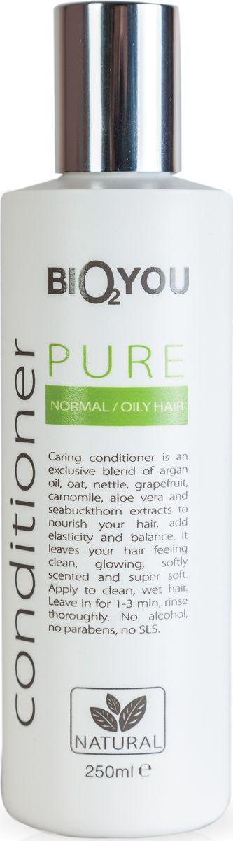 BIO2You Кондиционер Pure для нормальных волос, 250 мл961692Нежный кондиционер с облепихой питаeт волосы, пpидает волосам блеск и ощущение чистоты, делает волосы мягкими и шелковистыми. Нанести на чистые, влажные волосы, через 1-3 минут тщательно промыть. Не содержит спирта, парабенов и SLS.