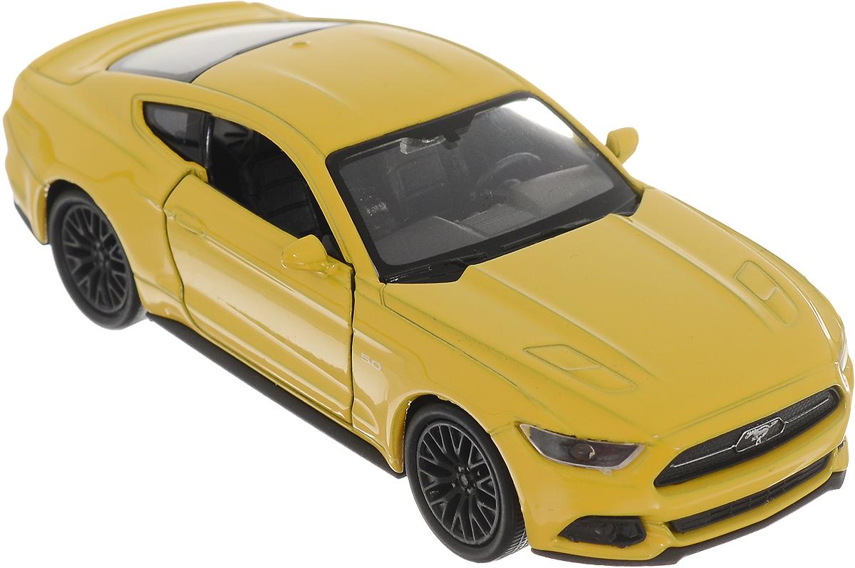 Welly Модель автомобиля Ford Mustang GT 2015 цвет желтый welly 1 24 ford mustang gt