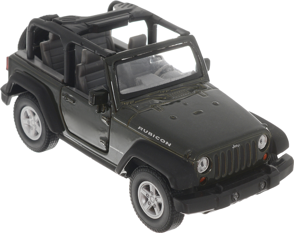 Welly Модель автомобиля Jeep Wrangler Rubicon цвет темно-зеленый welly модель автомобиля audi r8 v10 цвет красный