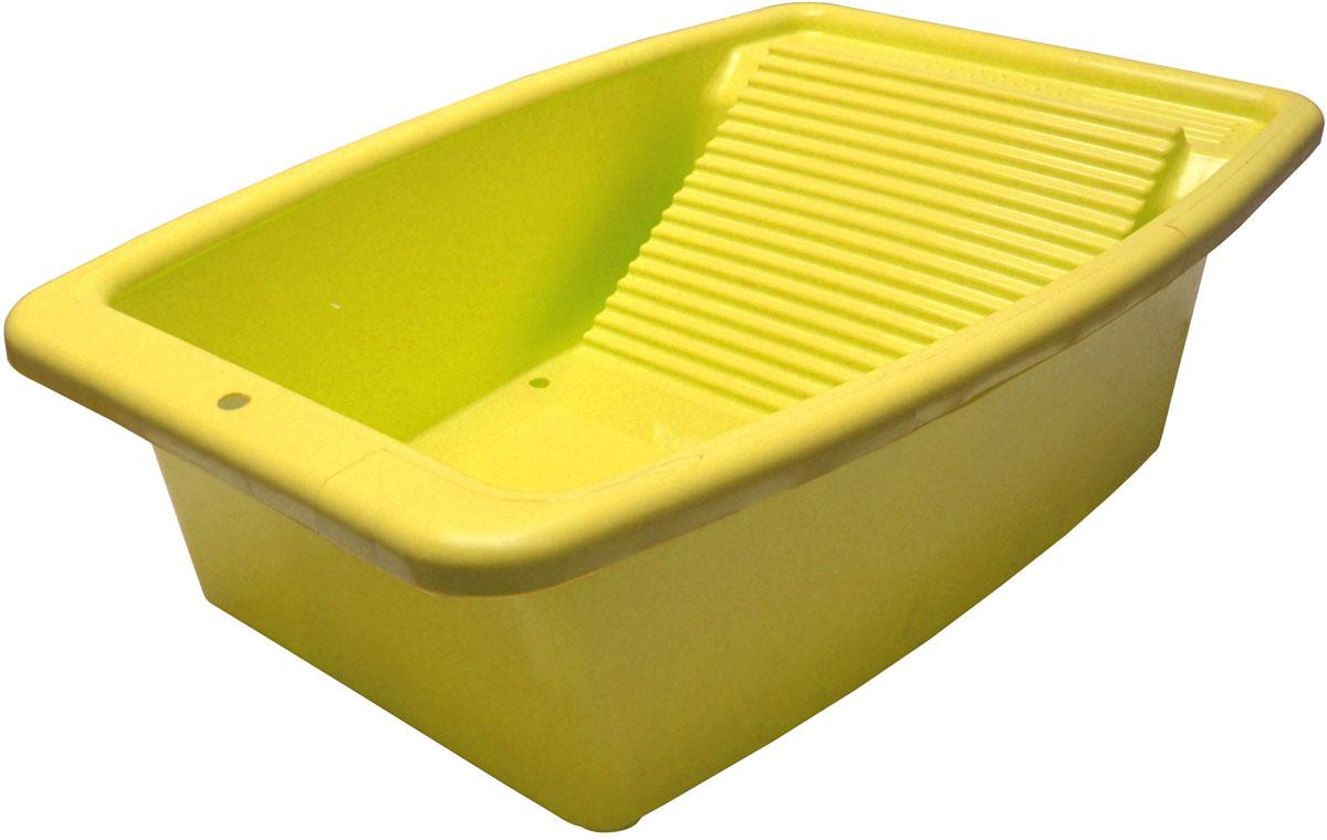 Таз со стиральной доской Коллекция, цвет: желтый, 34 л787502Таз со стиральной доской, изготовленный из полипропилена. Он имеет классическую прямоугольную форму и ручки, удобные для перемещения.Объем таза: 34 л.
