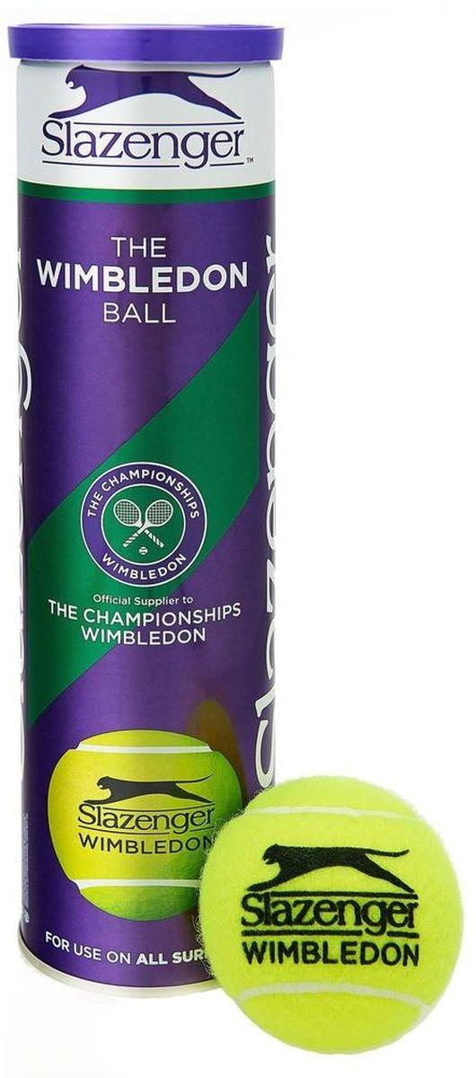 Мячи теннисные Slazenger WIMBLEDON ULTRA VIS HYDROGUARD 4 BALL CAN340885Эксклюзивное использование на турнире Уимблдон.Hydroguard™ / Ultra Vis™ / TOUR CORE™Внутренняя часть разработана для удовлетворения всем требованиям наиболее престижного мирового соревнования.Качественная плетеная обшивка с использованием тончайшей шерсти позволило получить плотное плетение, увеличив срок службы и чувствительность.Для Уимблдонского мяча использовано Ultra Vis красящее вещество, наносящееся согласно патентованной технологии, обеспечивающее оптимальную видимость мяча игроками и зрителями.Используя собственную технологию Hydroguard, была разработана внешняя обшивка мяча, способная впитывать влагу на 70% меньше, чем обычный мяч. Уимблдонский мяч остается единственный выбором.Одобрен Международной теннисной Федерацией (ITF)