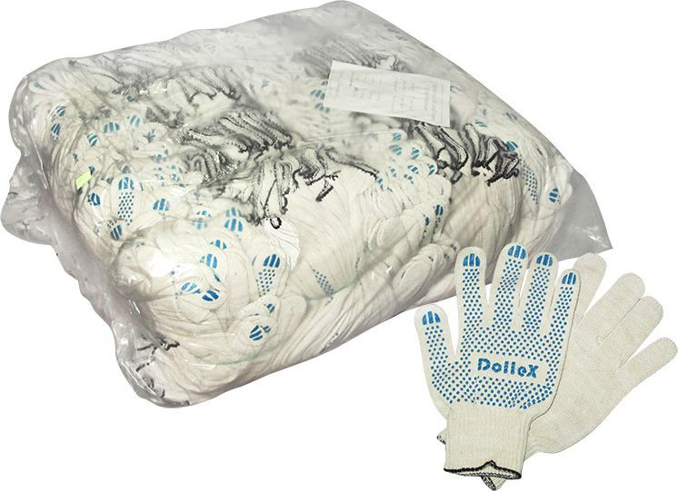Перчатки защитные DolleX, для ремонта, с покрытием, 10 класс, 200 пар900023Размер: 22 Класс вязки: 10 (10 петель на дюйм)Вес: 50 граммСостав: 85% хлопка, 15% полиэфирной нити, ПВХ — изготовлены из качественного сырья— износостойкие— отлично впитывают влагу— не жаркие, рука не потеет— не скользкие— отлично сидят на руке— дешевле аналоговВозможны поставки упаковками по 200 пар перчаток.