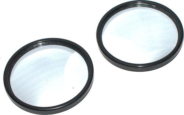 Зеркало мертвой зоны DolleX, на липучке, круглое, 50 мм, 2 шт21395598D=50 мм Комплект: 2 шт. + двухсторонняя липкая лента. Устанавливается на боковое зеркало или зеркало заднего вида. Сферическая поверхность зеркала эффективно увеличивает углы обзора, что позволяет контролировать мертвые зоны. Способ крепления: двухсторонняя липкая лента.