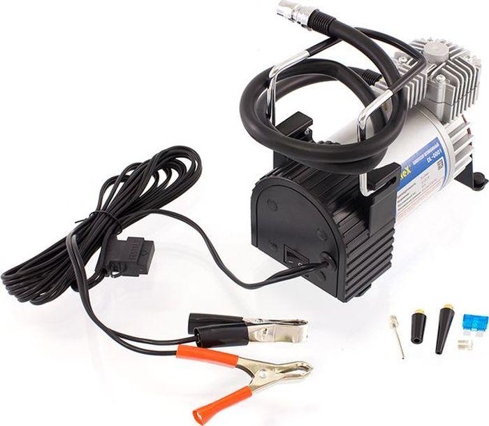 Компрессор автомобильный DolleX, предохранитель, шланг, на клеммы, сумка, 12V, 20 A, 150PSI, 55 л/минDW90Производительность: 55 л/мин Напряжение: 12-13,5 В Максимальный ток: 20А Максимальное давление: 10 кг/см3 (150 PSI) Алюминиевый корпус, мотор с прямым приводом, в конструкции отсутствуют шестерни, металлические поршень и клапаны, манометр на съёмном шланге 2,5м, надёжные зажимы на клеммы АКБ, брезентовая сумка в комплекте.