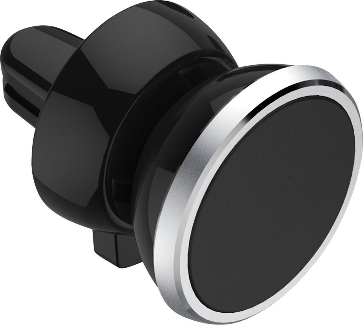 Держатель автомобильный AM, для телефона, магнитный, цвет: черныйRC-100BWC6 неодимовых магнитов. Установка угла наклона. Разворот на 360 градусов. Крепление на решетку вентиляции.