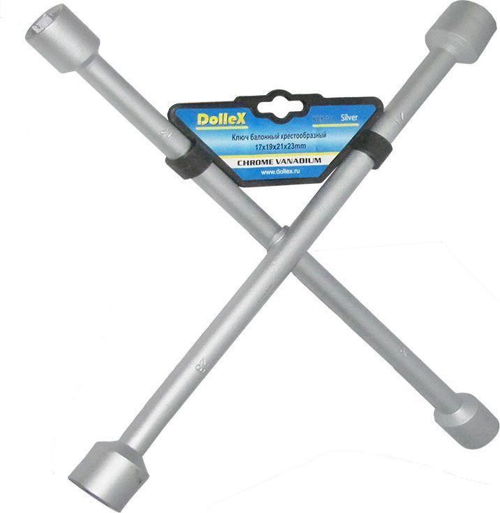 Ключ баллонный DolleX, крест, 17х19х21х23511074Изготовлен из хром-ванадиевой стали.