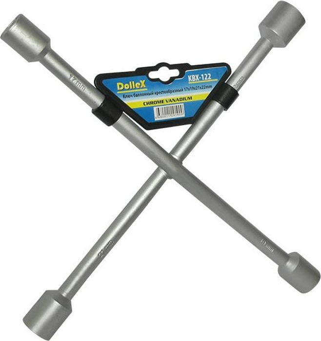 Ключ баллонный DolleX, крест 17x19x21x22511073Изготовлен из хром-ванадиевой стали.