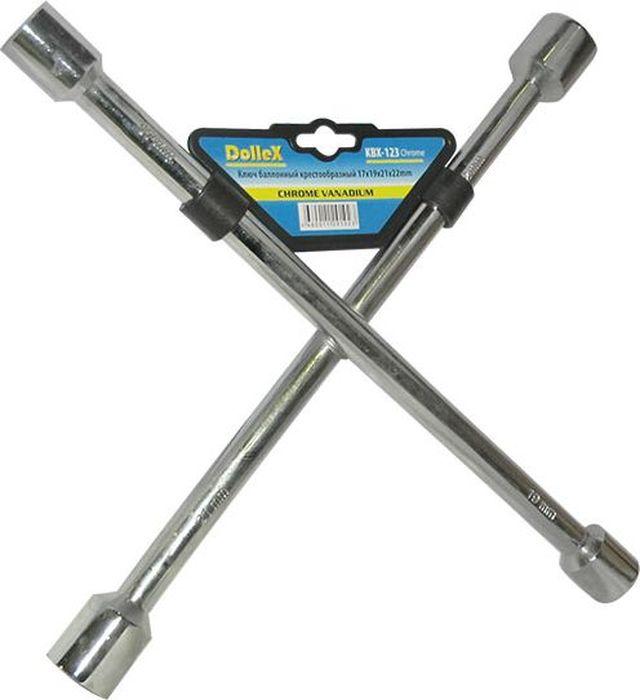 Ключ баллонный DolleX, крест 17x19x21x22, цвет: хром511071Изготовлен из хром-ванадиевой стали.