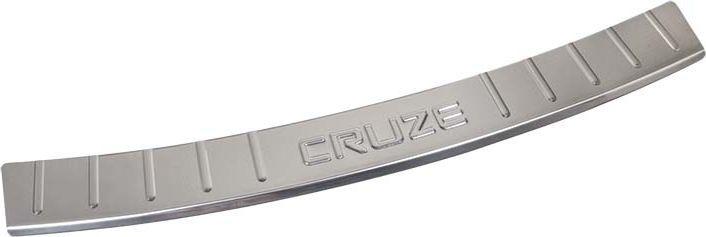 Накладка бампера декоративная DolleX, для CHEVROLET Cruze (2011-2013)NB.4113.1Придают автомобилю стильный и неповторимый вид, эффективно защищает бампер от повреждения лакокрасочного покрытия.Отличительные особенности:- Полированная нержавеющая сталь;- Толщина стали 0,5 мм.;- Стильный внешний вид;- Легкая и быстрая установка;- Крепление лента липкая двухсторонняя.