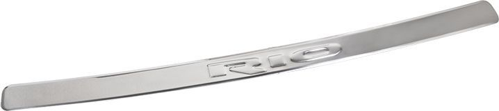 Накладка бампера декоративная DolleX, для KIA Rio, штамп RioCA-3505Придают автомобилю стильный и неповторимый вид, эффективно защищает бампер от повреждения лакокрасочного покрытия.Отличительные особенности:- Полированная нержавеющая сталь;- Толщина стали 0,5 мм.;- Стильный внешний вид;- Легкая и быстрая установка;- Крепление лента липкая двухсторонняя.