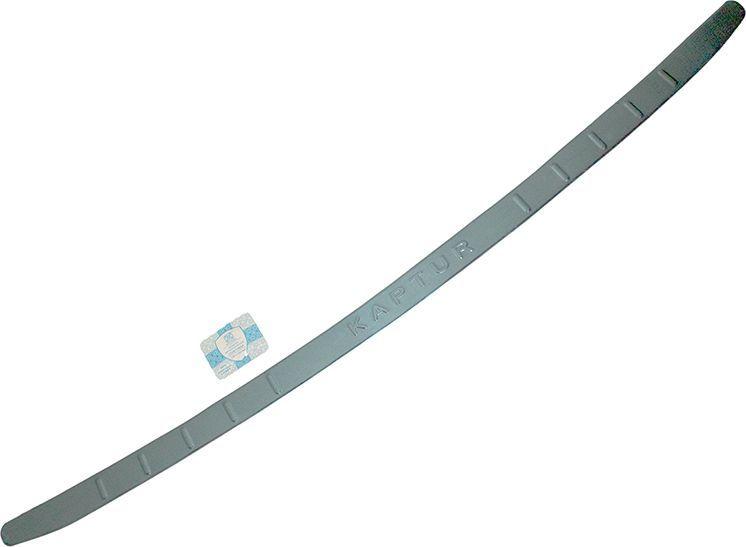Накладка бампера декоративная DolleX, для RENAULT Kaptur, надпись KAPTURВетерок 2ГФПридают автомобилю стильный и неповторимый вид, эффективно защищает бампер от повреждения лакокрасочного покрытия.Отличительные особенности:- Полированная нержавеющая сталь;- Толщина стали 0,5 мм.;- Стильный внешний вид;- Легкая и быстрая установка;- Крепление лента липкая двухсторонняя.
