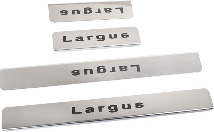 Накладки внутренних порогов DolleX, для LADA Largus, 4 шт111.05428.1Придают автомобилю стильный и неповторимый вид, эффективно защищают пороги от повреждения лакокрасочного покрытия.Отличительные особенности:- Полированная нержавеющая сталь- Толщина стали 0,5 мм.- Стильный внешний вид- Легкая и быстрая установка- Крепление лента липкая двухсторонняяКомплект:размер 450х55мм - 2штразмер 300х55мм - 2шт