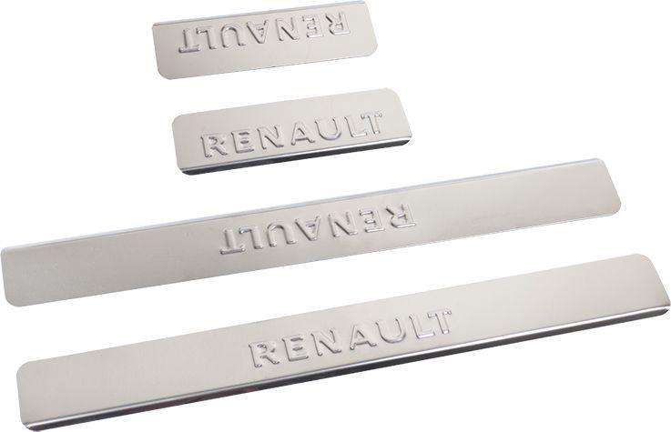 Накладки внутренних порогов DolleX, для RENAULT Duster, 4 штDW90Придают автомобилю стильный и неповторимый вид, эффективно защищают пороги от повреждения лакокрасочного покрытия.Отличительные особенности:- Полированная нержавеющая сталь- Толщина стали 0,5 мм.- Стильный внешний вид- Легкая и быстрая установка- Крепление лента липкая двухсторонняяКомплект:размер 450х52мм - 2штразмер 180х52мм - 2шт