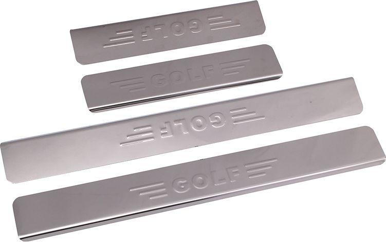 "Накладки внутренних порогов ""DolleX"", для VW Golf надпись ""GOLF"", 4 шт"