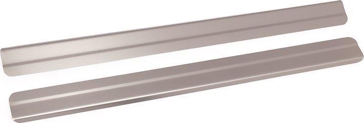 Накладки внутренних порогов DolleX, для NISSAN JUKE, ступенчатые, 2 штNSI-002Придают автомобилю стильный и неповторимый вид, эффективно защищают пороги от повреждения лакокрасочного покрытия.Отличительные особенности:- Полностью повторяет геометрию порога;- Полированная нержавеющая сталь;- Толщина стали 0,5 мм.;- Стильный внешний вид;- Легкая и быстрая установка;- Крепление лента липкая двухсторонняя.Комплект: размер 450х35 мм - 2 шт.